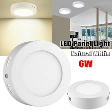 Led Surface Mount Ceiling Lights Details About 6w Led Panel Light Surface Mount Kitchen Ceiling Lamp Down Light Natural White