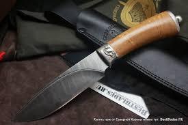 Купить <b>Авторский нож</b> Грибной (<b>дамаск</b>, карельская береза) за ...
