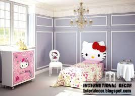 hello kitty bedroom themes and furniture style for modern girls room