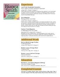 resume bianca smith resume