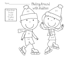 Color By Number Winter Worksheets #2036