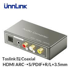<b>Unnlink HDMI ARC to</b> SPDIF Toslink Coaxial RCA 3.5mm Jack ...
