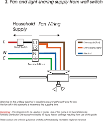 fan light sharing switch supply