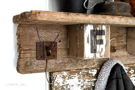 Rustic Coat Rack With Shelf Interchangeable FALL FARM reclaimed wood coat hook shelfFunky Junk 37
