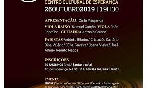 ARRONCHES: 'GRANDE DE NOITE DE FADOS' NO CENTRO CULTURAL DE ESPERANÇA
