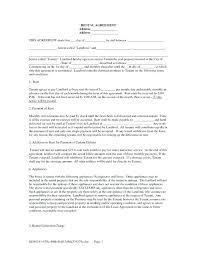 Simple Rental Agreement Format – Hcarrillo