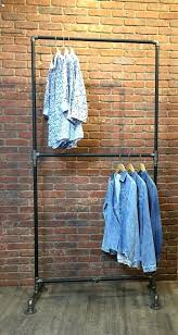 pipe clothing rack industrial pipe clothing rack double row pipe clothing rack wall mounted