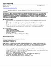 Cosy Pharmaceutical Sales Resume Examples About Brilliant