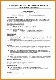 Part Time Jobs Resume Awesome 10 Cv Template For Student Part Time
