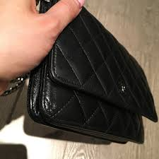 $2500 Chanel Classic CC Logo Black Lambskin Quilted Leather WOC ... & lightbox Adamdwight.com