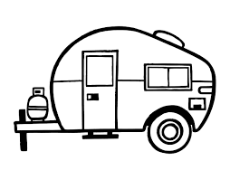 Small Picture Modern caravan coloring page Coloringcrewcom