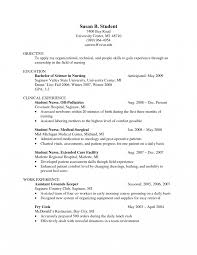School Nurse Resume Objective Objective In Resume For Fresh Graduatese Certifiedsing Assistant 61