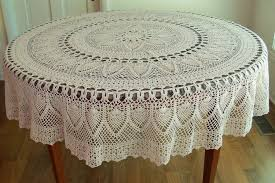 crochet round tablecloths awesome handmade crocheted pineapple tablecloth 70 inch round natural