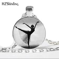 whole ballerina silhouette pendant necklace ballerina jewelry dancer silhouette art pendant black white ballet dancer necklace hz1 diamond heart