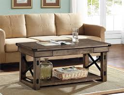 Coffee Table:Rustic Coffee Tables Old Wood Table Gray Wash Large Square  Grey 91ggiwtfaql Sl1500