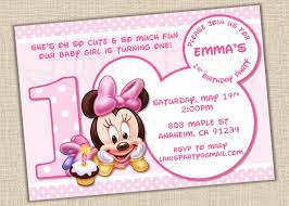baby mickey mouse invitations birthday baby minnie mouse invitation template orderecigsjuice info