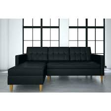 white faux leather futon black storage sectional mainstays dhp nola