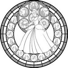 Disney Stained Glass Coloring Pages Sketch Template Disney