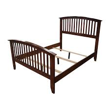 82% OFF - Bob's Discount Furniture Bob's Furniture Wood Caged Full Bed Frame / Beds