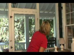how to install a solid vinyl screen door from screen you