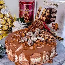 Chocolate Hazelnut Christmas Layered Ice Cream Cake My Kids Lick
