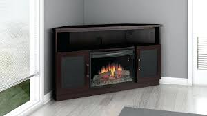 tv stand with electric fireplace inch corner electric fireplace stand dark finish chestnut hill 68 in