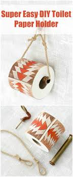 super easy diy toilet paper holder