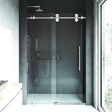shower door elan x single sliding sweep frameless canada shower door sweep image of semi frameless