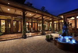 image of outdoor living hacienda style house plans