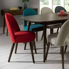 funky upholstered dining chairs fill your dining area with colors red chair inspiration