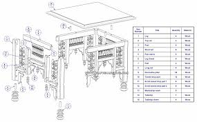 coffee table drawing. Egyptian Mashrabiya Coffee Table - Exploded View And Parts List Drawing