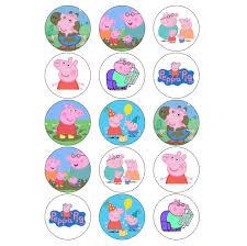 Peppa Pig Cupcake Toppers