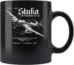 Like english, the german alphabet consists of 26 basic letters. Amazon Com Mens Stuka Junkers Ju 87 Plane Wwii German Letters Coffee Mug 11oz Tea Cups Gift Kitchen Dining