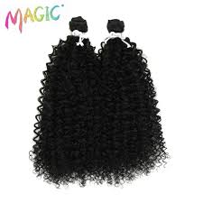 magic kinky curly 28 36inch ombre color synthetic hair weaving 120g pcs weft high temperature fiber extensions