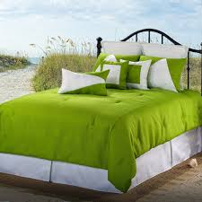 comforter set green latitude 13 white queen free 0