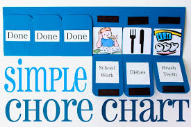 Diy Simple Chore Chart Kidsomania