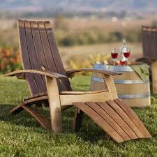 Wine Barrel Kitchen Table Wine Barrel Adirondack Chair And Footstool Vivaterra
