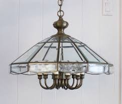 diy industrial lighting. Old Brass And Glass Chandelier Diy Industrial Lighting