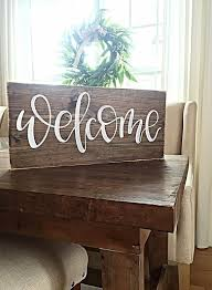 outdoor wood signs diy beautiful wel e sign home decor rustic hand painted wood sign