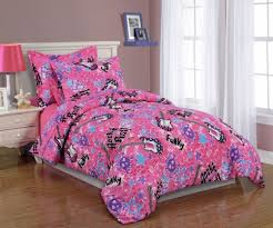 girls twin sheet set girls kids bedding twin sheet set rock and roll pink