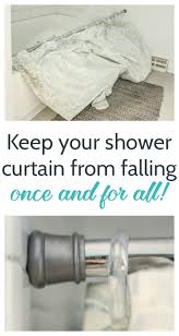 keep your shower curtain from falling once and for all