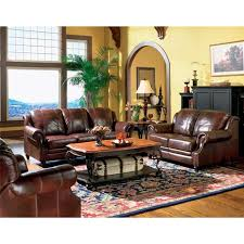 Leather Chairs Living Room Coaster Princeton 500663 Brown Leather Chair Steal A Sofa