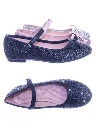 marina36k black by link children girls glitter ballerina ballet flat round toe mary jane strap