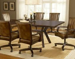 rolling dining room chairs amazing chair wonderful with arms and casters pertaining to 3