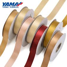 <b>YAMA</b> Gold Metallic <b>Edge Grosgrain Ribbon</b> 6mm 9mm 16mm ...
