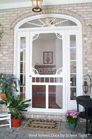 vinyl screen door by screen tight for front door