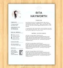 Modern Creative Resume Example Download Professional Resume Template Microsoft Word Free Templates