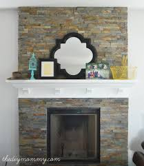 Tile Fireplace Makeover Building Our Fireplace Installing The Slate Split Face Tile Our