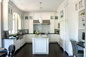 off white cabinets dark floors. Wonderful Floors White Kitchen Cabinets Dark Floors With Off Wood For I