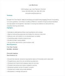 Example Of Teacher Resume Delectable Example Teacher Resume Amere